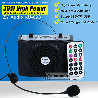 Portable Waistband Voice Amplifier Booster Loud Speaker Microphone For Teaching