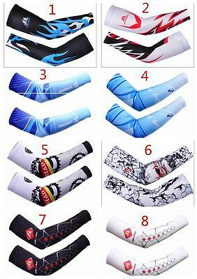 Unisex Outdoor Cycling Riding Bike Cuff Sleeve Sunscreen Arm Warmers 11 Style