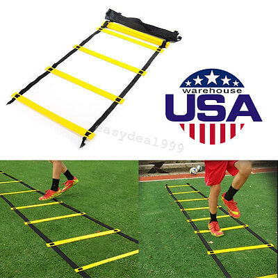 Agility Ladder for Soccer Football Tennis Speed Training Crossfit Workouts Power