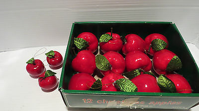 Lot of 12 Christmas Apples Decorations/Ornaments Plus 3 Small Apples