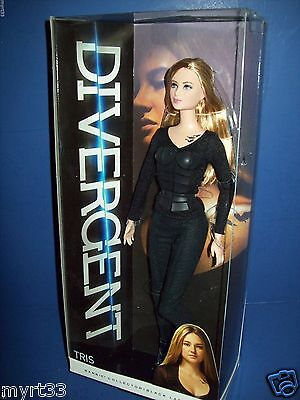 BARBIE  Collector Black Label - DIVERGENT TRIS DOLL NIB NISB NEW w/ Tattoo NRFP