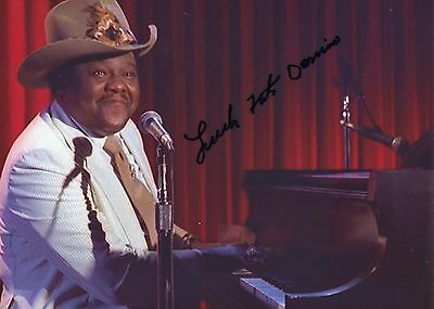 Authentic Fats Domino Signed 12 X 8  Photo...real Signature By The Legend...