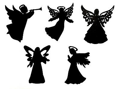 "(10) 3"" mixed CHRISTMAS ANGEL DIE CUTS / EMBELLISHMENT SCRAPBOOK, PAPER CRAFTS"