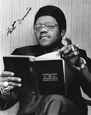 Authentic Fats Domino Signed 10 X 8  Photo...real Signature By The Legend...