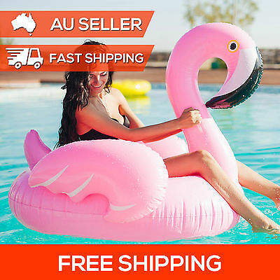 Pink Giant Flamingo Inflatable Float Swimming Pool Water Toy Summer Fun Raft