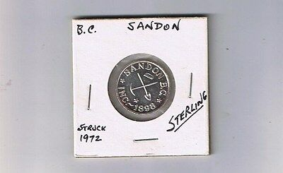 Sandon  BC Canada - The Virginia - Sterling Silver Trade Token