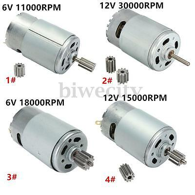 6V/12V 18000-30000RPM Electric Motor Gear Box For Kids Ride On Bike Car Toy New