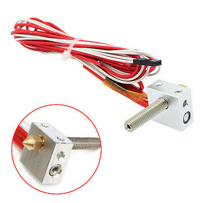 12V 1.75mm 0.4mm MK8 Nozzle Extruder Filament HotEnd for Prusa i3 3D Printer New