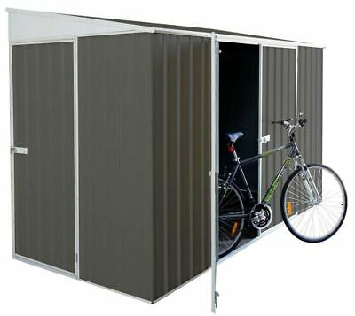 Absco Eco-Nomy Garden Sheds Storage Outdoor Bike Shed 3m x 1.52m x 1.95m in Grey