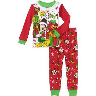 Disney Mickey Mouse Christmas Pajamas Size 18 Months 2T 3T 4T 5T ...