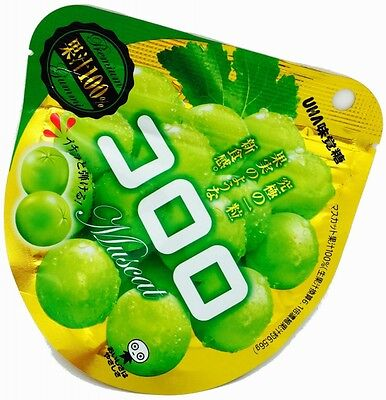UHA Gummy Candy Kororo Muscat 40G × 6 bags F/S from Japan