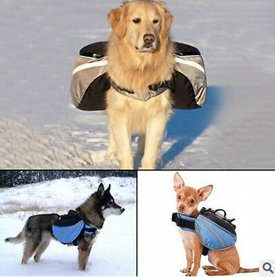 Pet Dog Puppy Bag Backpack Saddle Harness Pack Travel Camping Hiking Outdoor New