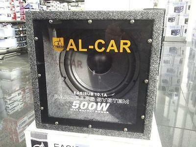 Aktiv Subwoofer EasiSub 10.1A - 25 cm 500 Watt (RMS: 120 Watt) Würfeldesign TOP