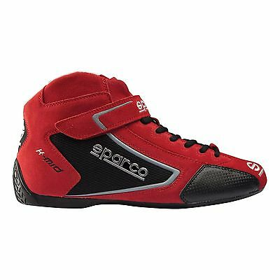 Pair of New Sparco K-Mid Kart Boots UK 6.5 EU 40 Red UK KART STORE