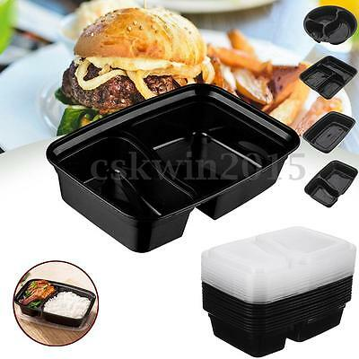 10Pc Mixed Meal Prep Container Set Microwavable Lunch Boxes Food Storage Box+Lid