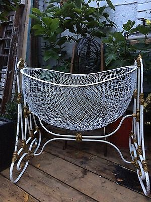 Antique Vintage Victorian Baby Swinging Crib/cot/cradle Shabby Chic