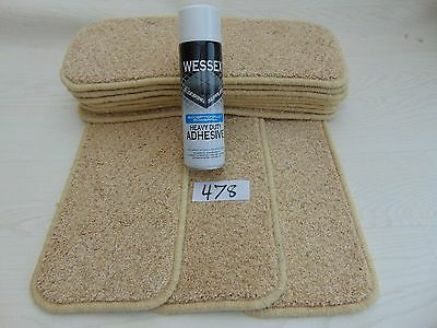 Stair pads / treads 11 off and  with a FREE can of SPRAY GLUE 478-2