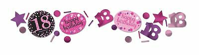 Pink Celebration 18th Birthday 3 Pack Value Confetti 34g