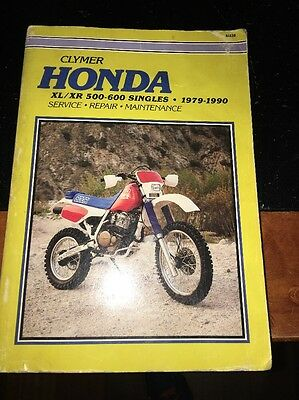 CLYMER HONDA XL/XR 500-600 Singles 1979-1990 Service Repair Maintenance