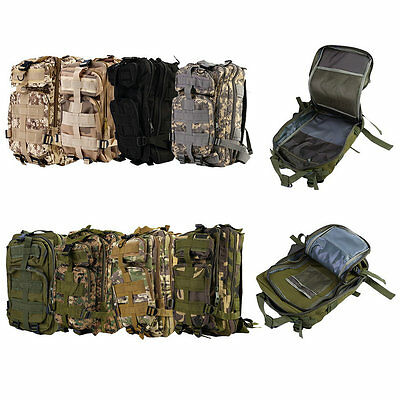 30L Military Tactical Backpack Molle Rucksacks Camping Hiking Trekking Bag FQ