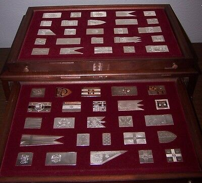 The Flags of Royalty Ingots Collection Franklin Mint 1977 Sterling Silver