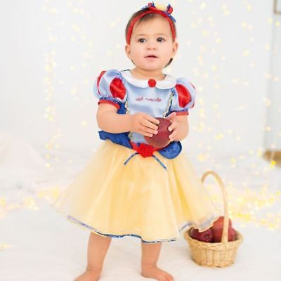 Disney Baby Snow White Princess Dress 6-12 mths - Toddler Babies Costume Outfit