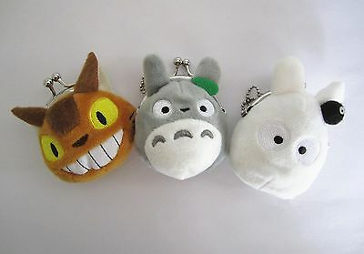 Ghibli My Neighbour Totoro Catbus Plush Pendants Mini Coin Purse Doll Toy Gift
