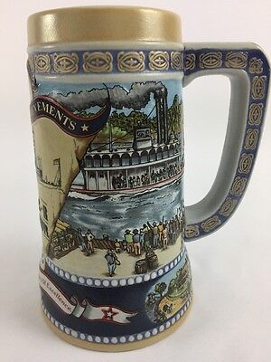 Miller High Life Great American Achievements River Steamer 4th series Beer Stein