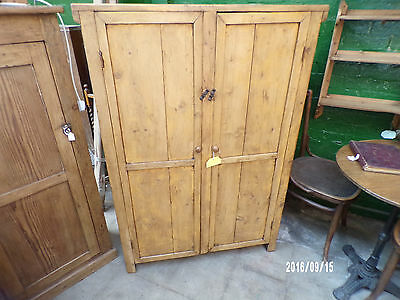 Large Double Door Pine Cupboard