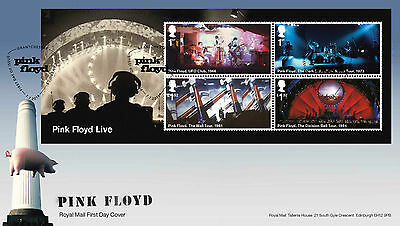 Great Britain - Pink Floyd 2016 First Day Cover Mini Sheet
