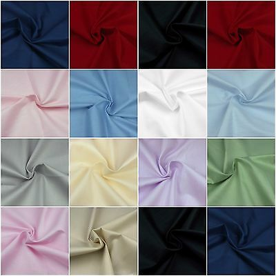 160cm Extra Wide 100% Cotton Fabric Sheeting Plain Solid Colours per metre 63""