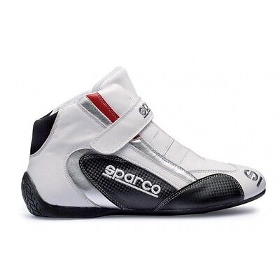 Pair of New Sparco K Formula Kart Boots UK 5 EU 38 White UK KART STORE