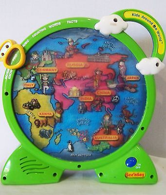 Mattel Kids Around the World See and Say geography multi lingual teaching toy