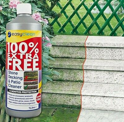 ,* Easyclean Outdoor Stone Decking & Patio Cleaner Concentrate - 1 Litre