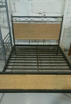 cast iron double bed STYLISH VERY STURDY 4 FT 6  EX DISPLAY • £99.95