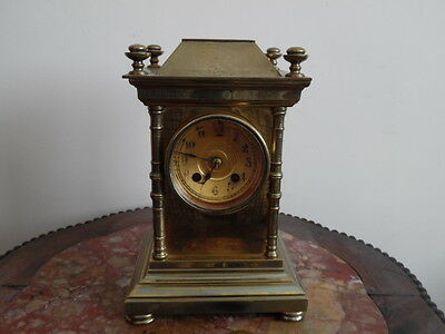 Victorian Gilt Bronze Mantle Clock
