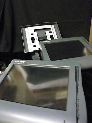 "LOT 2 Micros 12.1"" Workstation 4 Terminal POS Touchscreen + 1 Stand (9Z)"