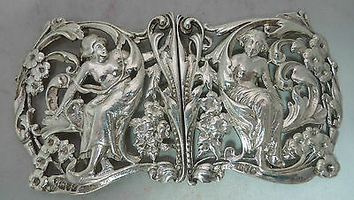 Edwardian Silver Nurses Belt Buckle William Comyns London 1901 99g