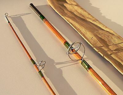 PEZON MICHEL canne à pêche bambou refendu spinning rod fishing bamboo split cane