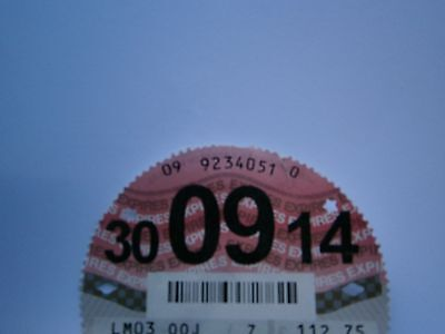car tax disc the very last paper one to be issued 30.09.14