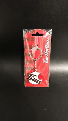 New Tim Hortons Canada Coffee I Love Tims Timmies Key Chain Metal