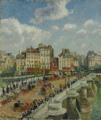 Camille Jacob Pissarro The Pont Neuf Giclee Canvas Print Paintings Poster Reprod