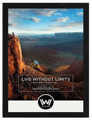 Framed Westworld TV Series Poster A4 Size Mounted In Black Or White Frame