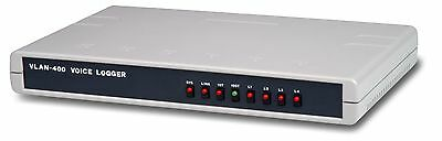 Eletech VLan-Std Network Based 4-Channel Telephone Call Logger Voice Recorder