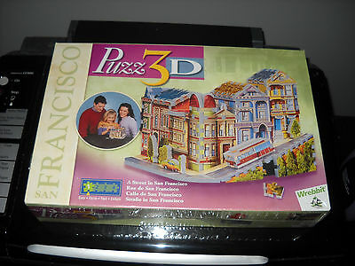 Brand New Puzzle Puzz 3D Wrebbit A Street In San Francisco 188 Pieces Rare