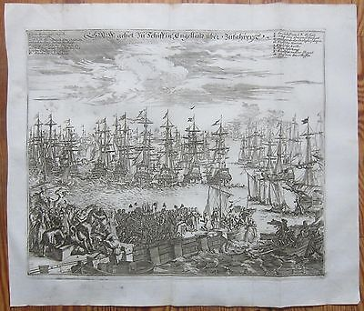 Merian Large Decorative View Fleet of Holland sailing to England 2 - 1759