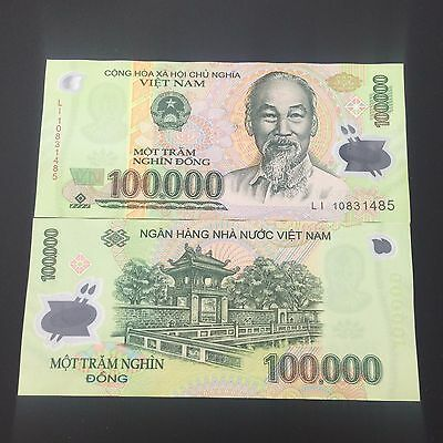 1 x 100,000 100000 Dong VIETNAM MONEY POLYMER CURRENCY BANKNOTES UNC