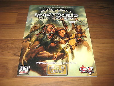 d20 Races of Legend Lords of the Peaks Sourcebook Paradigm Concepts SC 2002