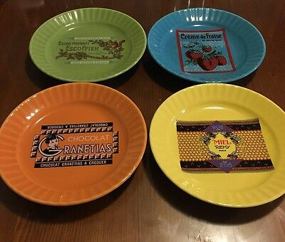 Unique Set Of French Chocolate Style Pie Plates, Collectible/Rare Dinnerware
