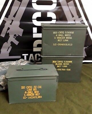 (3 PACK) 2 FAT 50 CAL SAW BOX / 1 50 Cal  AMMO CAN GOOD CONDITION FREE SHIPPING